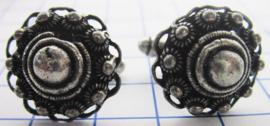 ZKG426 paar Zeeuwse manchetknopen bol met oogjesrand