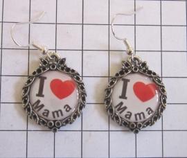 OOR 311 oorbellen I love Mama, moederdag cadeau