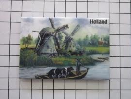 10 stuks koelkastmagneet Holland MAC:20.237 molen boot koe
