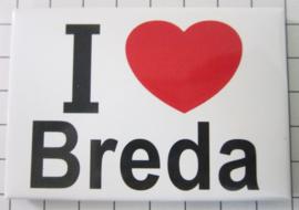 10 stuks koelkastmagneet I love Breda  N_NB4.002