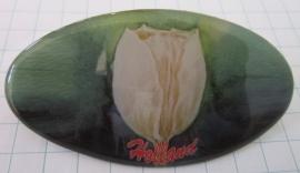 Haarspeld ovaal witte tulp HAO 004