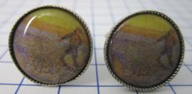 manchetknopen verzilverd afbeelding veld Vincent van Gogh MAK016