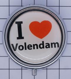 PIL_NH4.001 pillendoosje met spiegel  ik hou van  Volendam