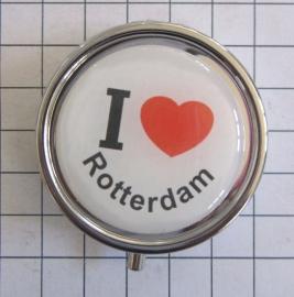 PIL_ZH1.001 pillendoosje met spiegel ik hou van Rotterdam