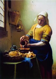 10 stuks poster op karton Melkmeisje Johannes Vermeer POS-0001 posters(20.8Cm / 29.5Cm)