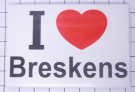 10 stuks koelkastmagneet I love Zeeland  Breskens N_ZE7.703