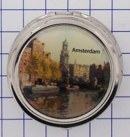 PIL 003 pillendoosje met spiegel toren Amsterdam