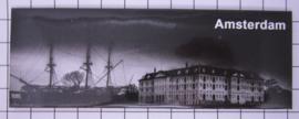 10 stuks koelkastmagneet Amsterdam  scheepvaartmuseum zwart wit 22.020