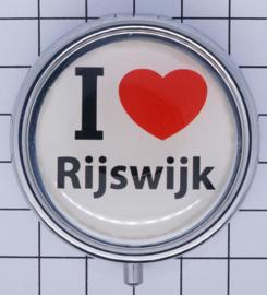 PIL_ZH11.001 pillendoosje met spiegel  ik hou van  Rijswijk
