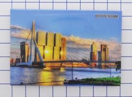 N_ZH1.023 koelkastmagneet Rotterdam, pakje 10 stuks