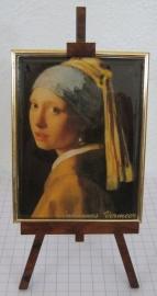 SCH020 schilderszezeltje meisje parel 22 cm hoog