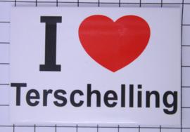 10 stuks koelkastmagneet I love Terschelling N_FR10.001