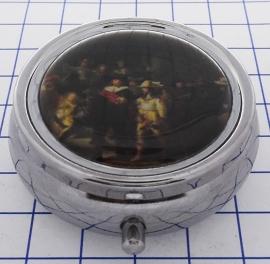 PIL 308pillendoosje met spiegel Nachtwacht Rembrandt van Rijn