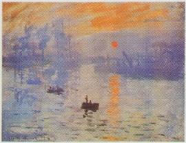 pak 50 stuks Kwaliteitsposters 35 x 45 cm Claude Monet - zonsopgang