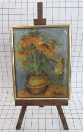 SCH005 schildersezel 16 cm hoog keizerskroon van Gogh