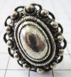 grote ovale Zeeuwse knop ring ZKR309