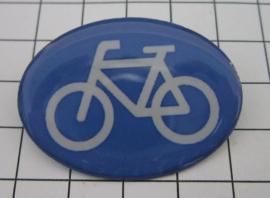 BRO 401 broche fiets verkeersbord