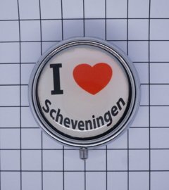 PIL_ZH9.001 pillendoosje met spiegel  ik hou van  Scheveningen