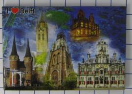 10 stuks koelkastmagneet Delft N_ZH5.015