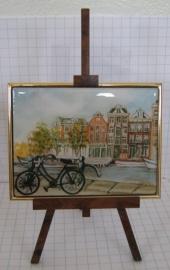 SCH037 schildersezel 22 cm Amsterdam fiets