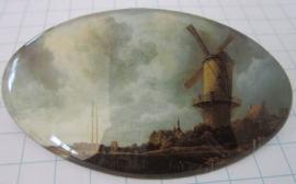 Haarspeld ovaal molen Ruisdael HAO 009