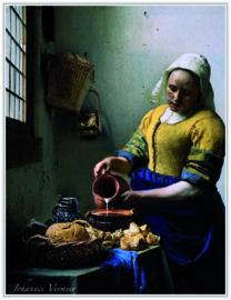 pak 25 posters(35.5Cm / 27.2Cm) POS210 Melkmeisje Johannes Vermeer