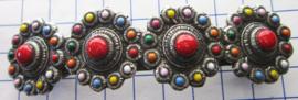 ZKG403-MC Haarspeld zeeuwse knopen met regenboog kleuren emaille