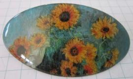 Haarspeld ovaal zonnebloemen Monet HAO 206