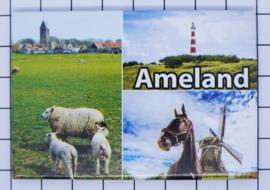 10 stuks koelkastmagneet  Ameland  N_FR9.004