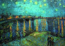 10 stuks poster op karton Sterrennacht water Gogh POS-0009 posters(20.8Cm / 29.5Cm)