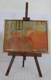 SCH 203 Schildersezeltje 22 cm hoog met geemailleerde reproduktie van Vincent van Gogh
