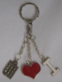 SLE105 sleutelhanger I love grachtenpand