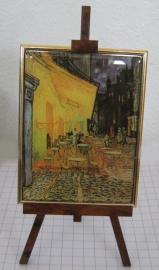 SCH008 schildersezel 22 cm hoog Vincent van Gogh, cafe