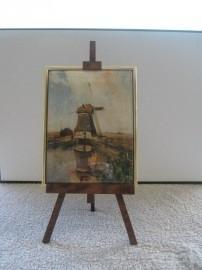 SCH036 schildersezel 22 cm hoog , molen gabriel
