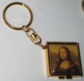 sleutelhanger vierkant met spiegel mona lisa