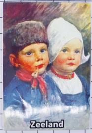 10 stuks koelkastmagneet Zeeland kinderen klederdracht N_ZE1.028