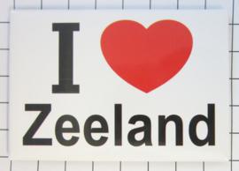 10 stuks koelkastmagneet I ♥ Zeeland N_ZE1.001
