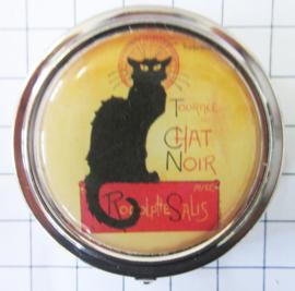 PIL 116 pillendoosje zwarte kat
