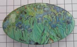 Haarspeld ovaal HAO 408 Irissen Vincent van Gogh