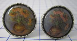manchetknopen verzilverd afbeelding keizerskroon Vincent van Gogh MAK012