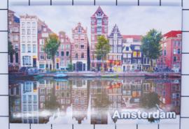 10 stuks koelkastmagneet Amsterdam  Grachtenhuizen water 18.982