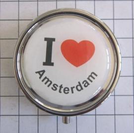 PIL 001 pillendoosje met spiegel ik hou van Amsterdam