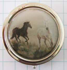 PIL 129 pillendoosje twee paarden