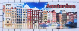10 stuks koelkastmagneet kleurige grachtenhuisjes Amsterdam  22.032