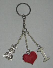 SLE103 sleutelhanger i love molen