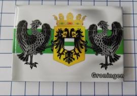 10 stuks koelkastmagneet  wapen Groningen N_GR1.007