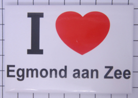 10 stuks koelkastmagneet I love Egmond aan Zee N_NH15.002