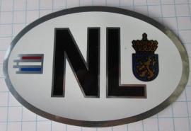 30 stuks autosticker NL metallic