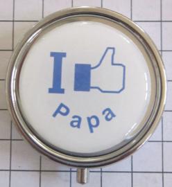 PIL 044 pillendoosje met spiegel I like papa vaderdag tip