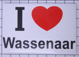 10 stuks koelkastmagneet  I love Wassenaar   N_ZH14.001
